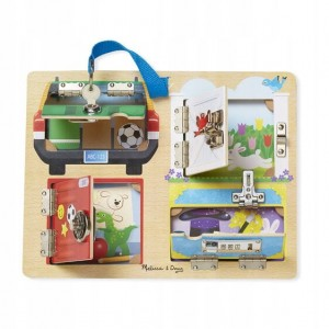 Melissa and Doug tablica manipulacyjna sejf